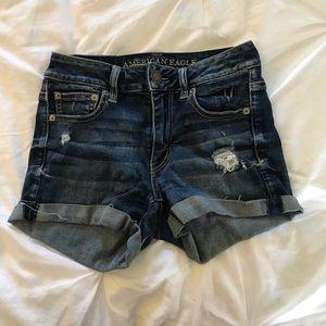 AE High-Waisted Super Stretch Denim Jean Shorts
